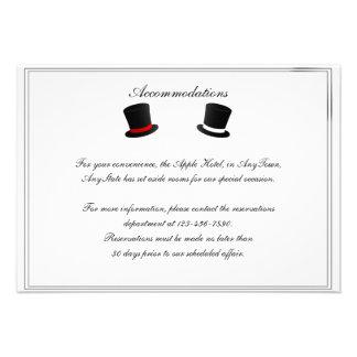 Sombreros de copa y parte movible gay del boda de comunicados personalizados