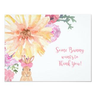 Somebunny le agradece las notas por cumpleaños o invitación 10,8 x 13,9 cm