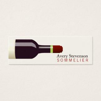 Sommelier de la botella de vino rojo tarjeta de visita pequeña