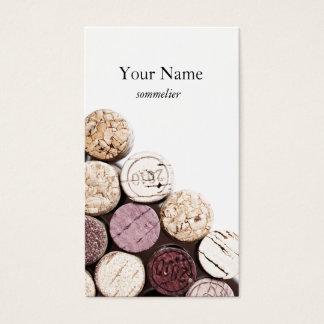 Sommelier de la vinificación de la textura de los tarjeta de visita