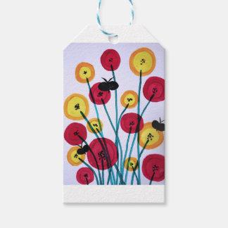 Sommerfugler del MED del blomster de Nappen Etiquetas Para Regalos