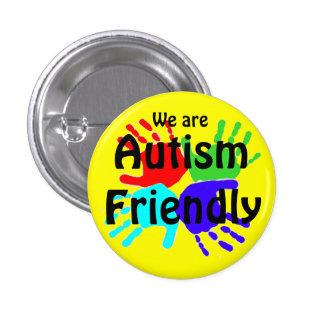 Somos autismo amistoso chapa redonda de 2,5 cm