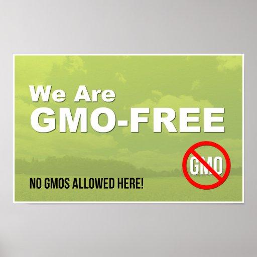 Somos muestra GMO-Libre de la ventana Impresiones