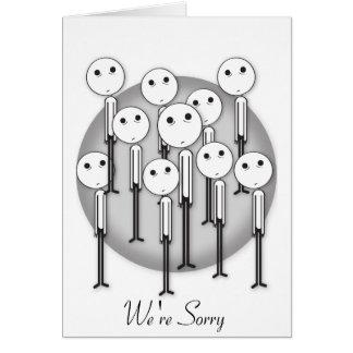 Somos tarjeta triste de la disculpa - texto adapta