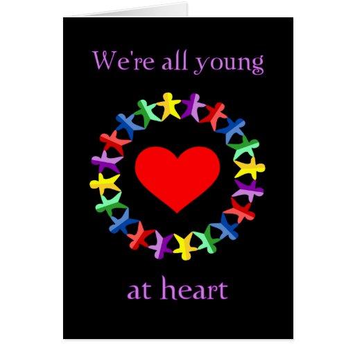 Somos todos jovenes en la tarjeta del corazón, esc