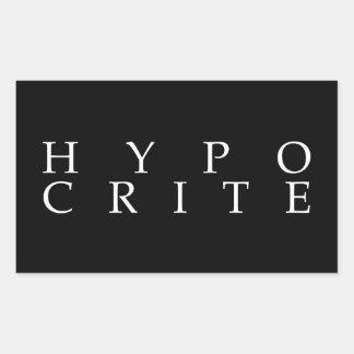 Somos todos los hipócritas pegatina rectangular