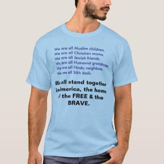Somos todos los musulmanes, cristiano, judío, camiseta