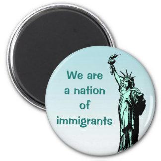 Somos una nación del imán de los inmigrantes