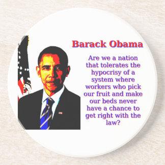 Somos una nación que tolere - Barack Obama Posavasos
