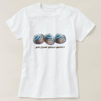 ¿Son las almejas realmente felices? Camiseta