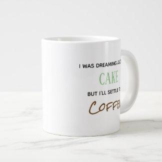 soñaba sobre la taza de café de la torta