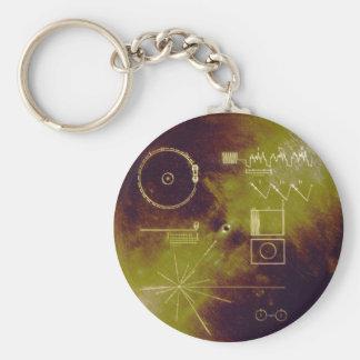Sonidos del disco de oro del viajero 1 y 2 de la t llaveros