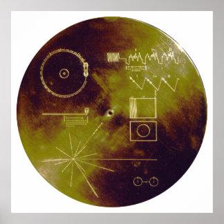 Sonidos del disco de oro del viajero 1 y 2 de la t poster