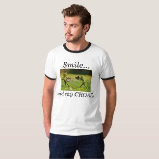 Sonría y diga el croar camiseta