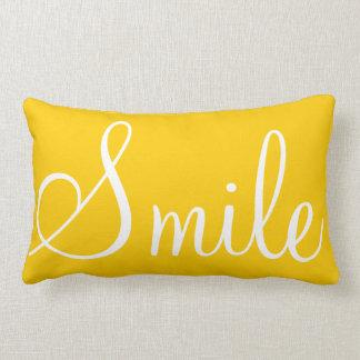 SONRISA - almohada decorativa amarilla de la sol