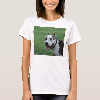 sonrisa americana del terrier de pitbull camiseta