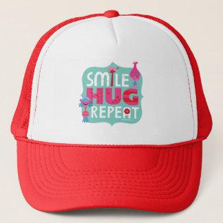 Sonrisa de los duendes el |, abrazo, repetición gorra de camionero