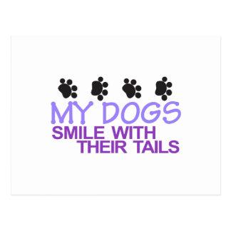 Sonrisa de los perros postal