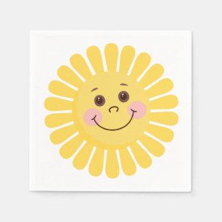 Sonrisa de Sun Servilleta Desechable