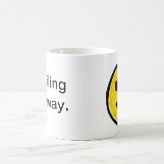 sonrisa de todos modos taza de café