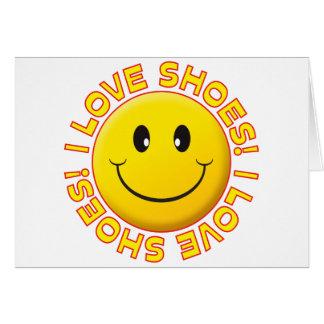 Sonrisa del amor de los zapatos tarjeta de felicitación