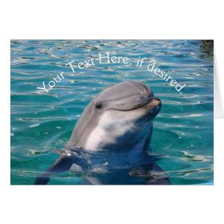Sonrisa del delfín tarjeta de felicitación
