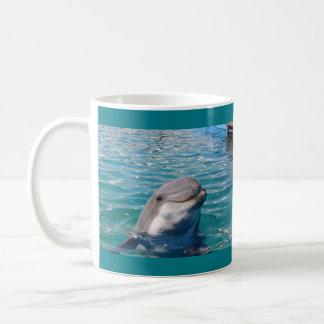 Sonrisa del delfín taza de café