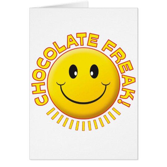 Sonrisa del monstruo del chocolate tarjeta de felicitación