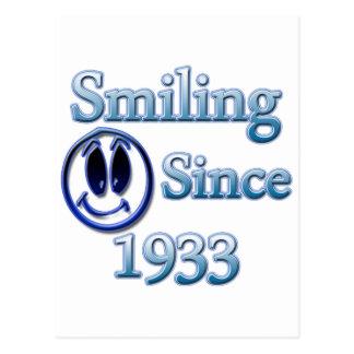 Sonrisa desde 1933 postal