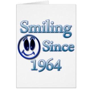 Sonrisa desde 1964 tarjeta de felicitación
