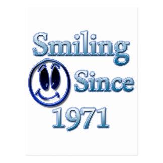 Sonrisa desde 1971 postal