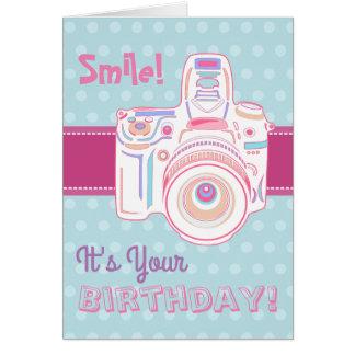 ¡Sonrisa! ¡Es su cumpleaños! Tarjeta en colores