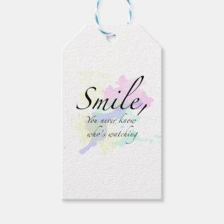 sonrisa etiquetas para regalos