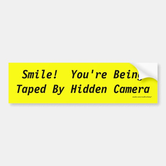 ¡Sonrisa!  La cámara ocultada le está grabando Pegatina Para Coche