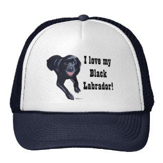 Sonrisa negra de Labrador Gorro De Camionero