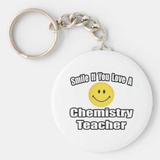 Sonrisa si usted ama a un profesor de la química llavero