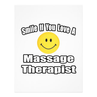 Sonrisa si usted ama a un terapeuta del masaje flyer personalizado