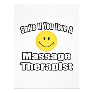 Sonrisa si usted ama a un terapeuta del masaje folleto 21,6 x 28 cm