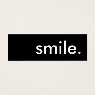 sonrisa tarjeta de visita pequeña