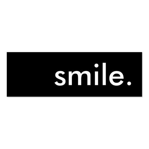 sonrisa plantilla de tarjeta personal