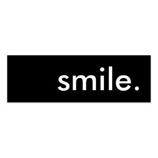 sonrisa tarjetas de visita mini