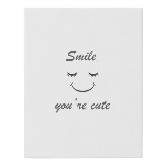 sonrisa usted es arte lindo de la pared