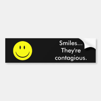 Sonrisas… Son contagiosas Pegatina Para Coche