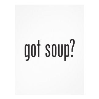 sopa conseguida flyer a todo color