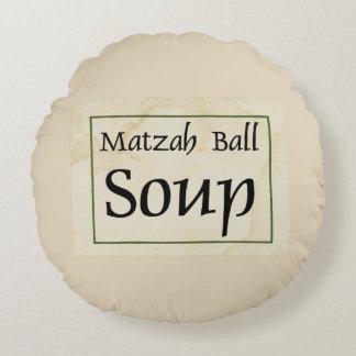 Sopa de la bola del Matzah Cojín Redondo