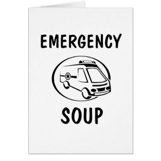 Sopa de la emergencia tarjeta de felicitación