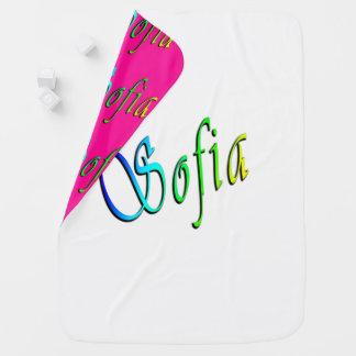 Sophia, nombre, logotipo, manta reversible del