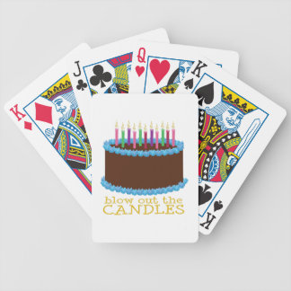 Sople hacia fuera las velas baraja de cartas