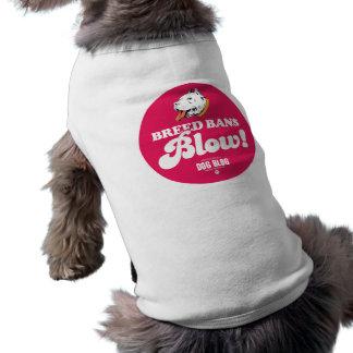 Soplo de las prohibiciones de la raza (fucsia) camiseta sin mangas para perro