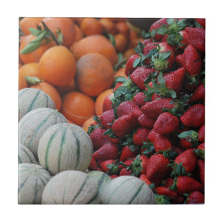 Soporte de fruta azulejo cuadrado pequeño